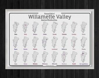 Oregon Wine Map: Willamette Valley Soil Map