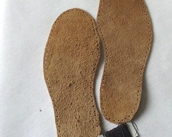 Natural brown leather soles, size 35EU-40EU, suede leather soles for slippers, natural leather, light brown soles, adult soles