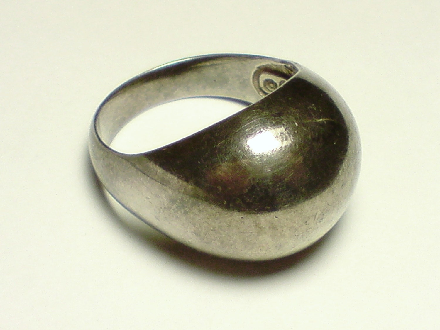 sterling silver dome ring by silverdish on etsy