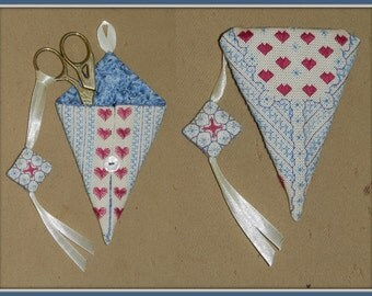 Scissor accessories Hearts - embroidery pattern