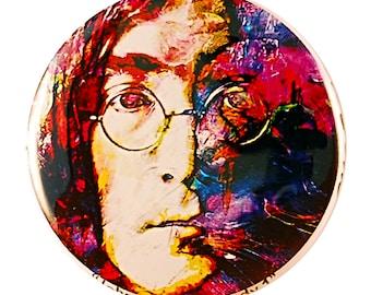 John Lennon Pin - pinback button by Mark Lewis Art - jls2