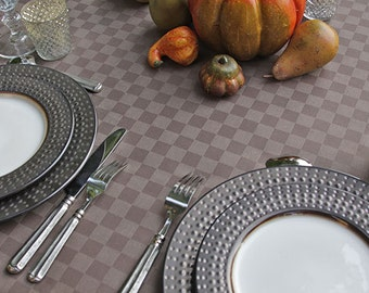 """72 to 130"""" Large Oval or Rectangle  Provence Carla BrownTablecloth or custom made your size up to 115"""" wide - Thanksgiving Tablecloth"""