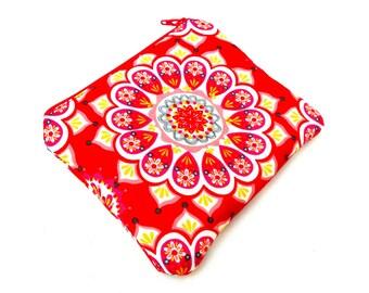 Flame Mandala Zipper Pouch - Red Orange Yellow Mandala Circle Fire Zipper Pouch, Clutch Wallet Electronics