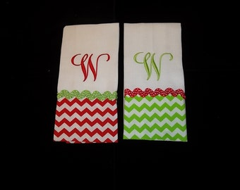 Personalized Christmas Hand Towel