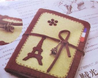 Eiffel Tower France Felt Card Holder, Sewing project, sewing kit, sew for kids, ShineKidsCrafts