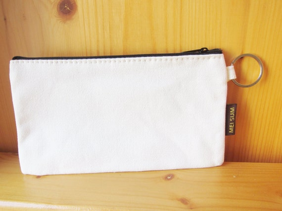Diy plain blank canvas pencil bag pouch by shinekidscrafts for Diy blank canvas