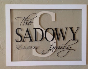 Personalized Family Decal for Mailbox, Wedding Envelope Mailbox or Photo Frame DIY