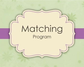 Matching Program - Made to Match Invitations - Digital File