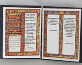 Beautiful words,Artist book, quotation, illustration, handmade, coptic stitched, handbound