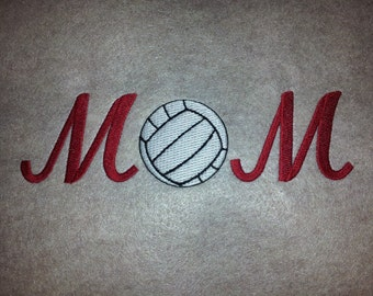 Embroidered sweatshirt volleyball  mom - Mom volleyball hooded embroidered sweatshirt - mothers day gift shirt - volleyball sweatshirt