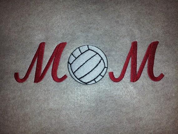 Embroidered sweatshirt volleyball  mom - Mom volleyball hooded embroidered sweatshirt - mothers day gift shirt - volleyball sweatshirt