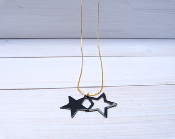 Black on Gold Necklace