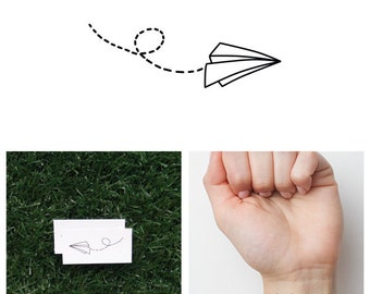 Fly Like Paper - Temporary Tattoo (Set of 2)