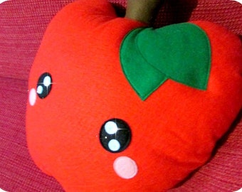 Snow White red Apple pillow in Soft Fabric Kawaii