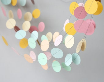 baby shower decorations easter decorations nursery decor pastel garland pastel rainbow - Nursery Decorations