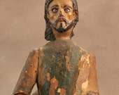 Portuguese Colonial Santos Figure, One of the Pilgrim Apostles (Peter, Paul, James the Greater), Brazil