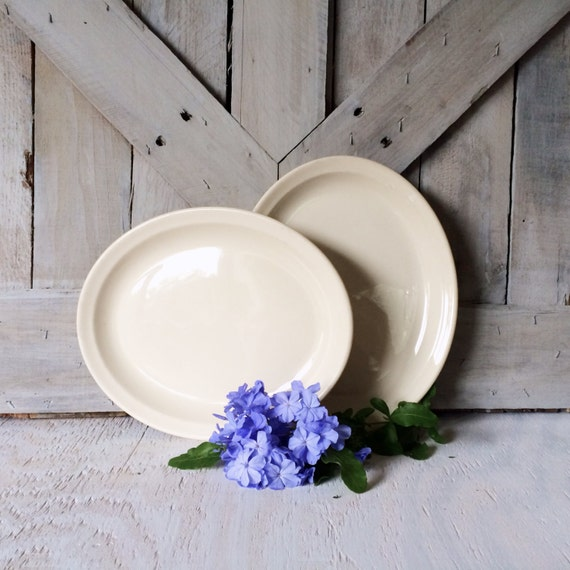 Antique Ironstone Platter-French Country Shabby Chic Farmhouse