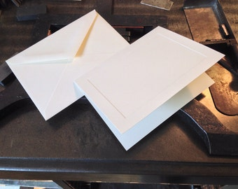 Blank Folded Notecard Stock