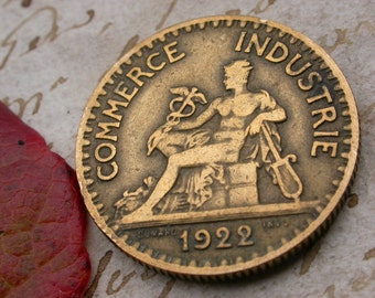 French old coins 6pcs vintage coins 1920s   collectible art deco period coins vintage charm gold ring