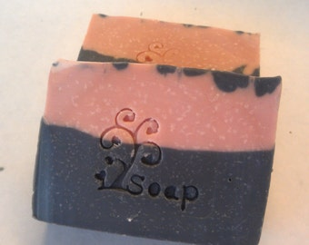 Unscented pink clay activated charcoal cold process soap