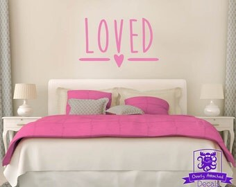Loved Typography Wall Decal
