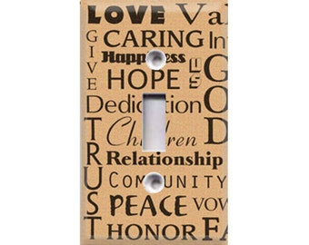 Inspirational Words Light Switch Cover