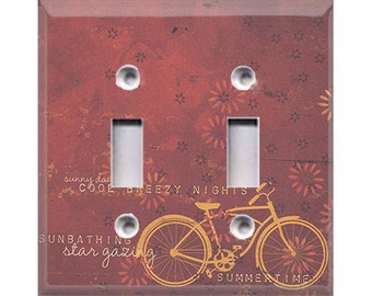 Boardwalk Collection - Bicylcle Double Light Switch Cover