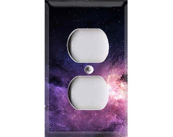 Purple Galaxy Outlet Cover