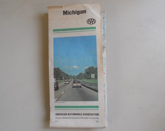 1980 AAA  Michigan Map