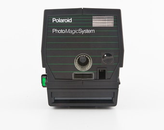 Polaroid PhotoMagic System with case and cutter - Polaroid 600 Instant Camera Tested - Working Button Maker