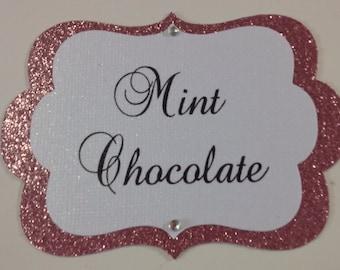 Custom Candy Buffet Tags, Candy Buffet Jar Labels, Candy Tags, Food Labels, Pink Candy Tags