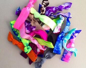 20 Assorted Hair Ties OR Headbands  by Elastic Hair Bandz