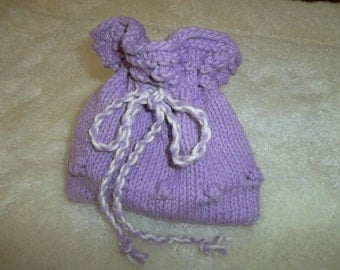KNITTED JEWELRY POUCH