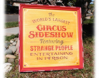 Old Time Circus Carnival Sign