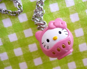 Necklace Kitty Daruma with Chain