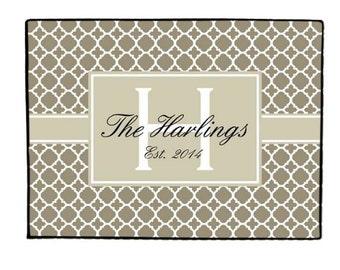 Personalized Door Mat Doormat Monogrammed Custom Rug Monogram Welcome Front  Door Mat Housewarming Gift Wedding Gift