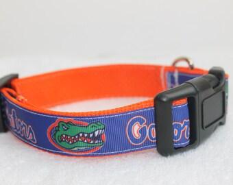 "Florida Gators Dog Collar- 1"" Wide"