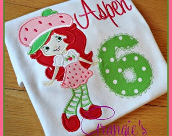 Personalized Strawberry Shortcake Birthday T-Shirt