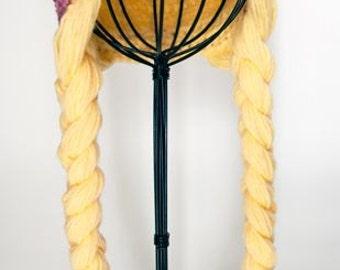 Princess crown with braided hair hat