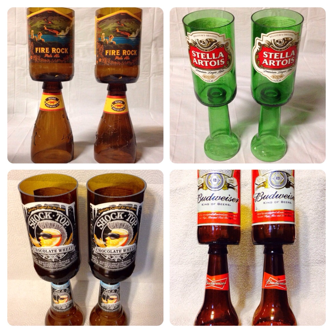 beer bottle wine glasses recycled glass bottles