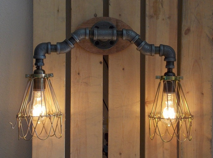 Industrial Vanity Light By Splinterwerx On Etsy