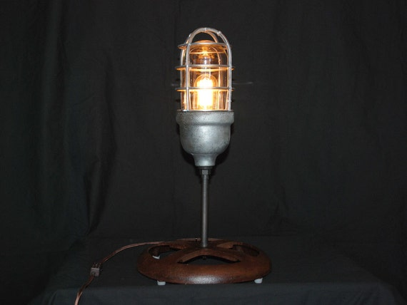 Vintage Crouse Hinds Industrial Table Lamp By Rustologies