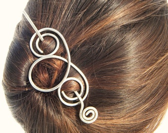 Hair Slide, Hair Clip, Silver, Hair Barrette, Hair Accessories, Hair Fork, Hair Stick, Metal Hair Sticks, Hair, Gifts For Women, Hair Pin