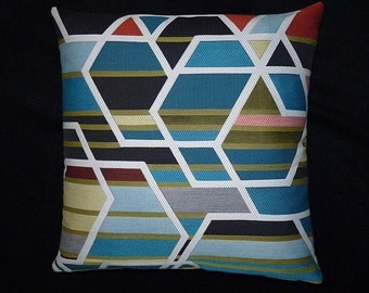 "Maharam ""Agency Unique"" Sarah Morris accent pillow (both sides) 17"" x 17"" feather insert"