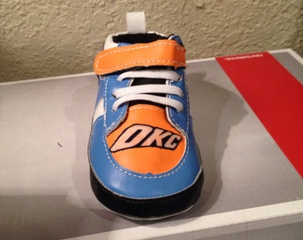 Loley pops creation OKC baby soft shoes - this creation is hand crafted by me and not affiliated with NBA