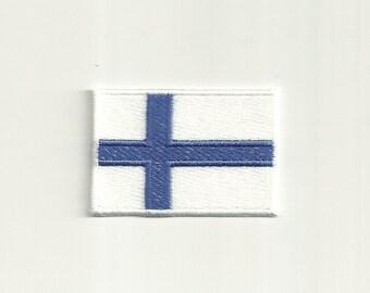 Finnish Flag Patch! Custom Made!