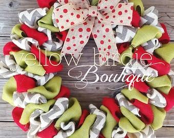 Holiday Wreath, Christmas Wreath, Christmas Wreaths, Christmas Burlap Wreath, Holiday Wreaths