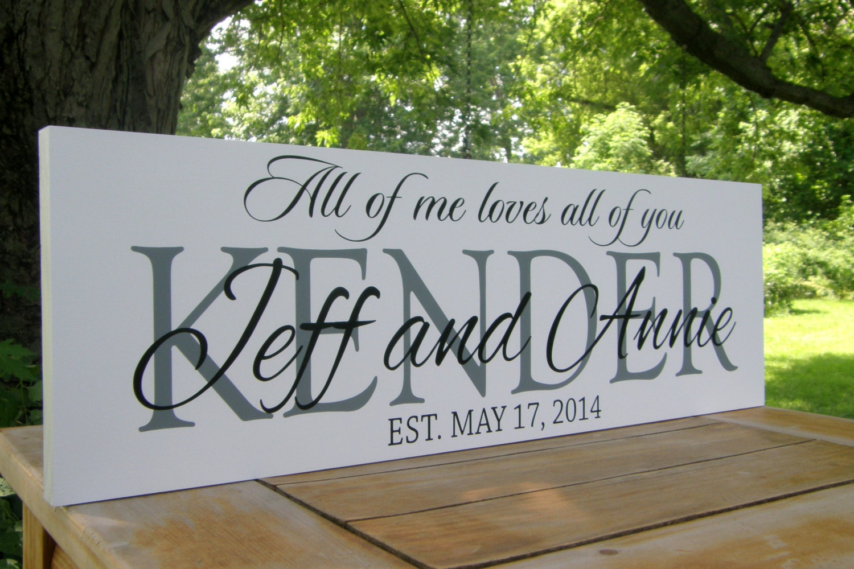personalized wedding sign wedding decoration family name On personalized wedding signs