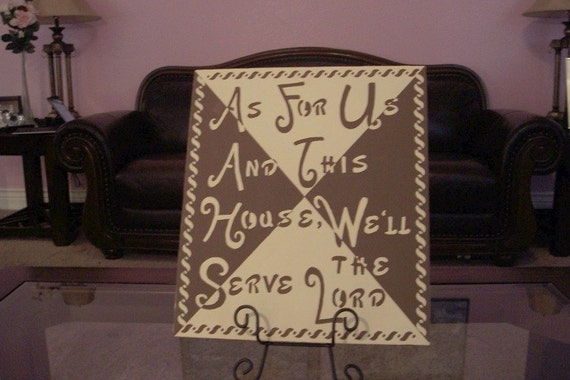 Bible Verse Decor Sign, Christian