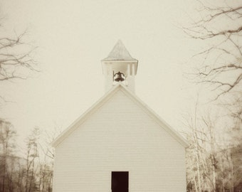 Old Church with vintage edit ~ Cades Cove